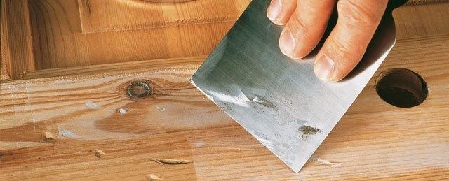 Как сделать шпаклевку по дереву